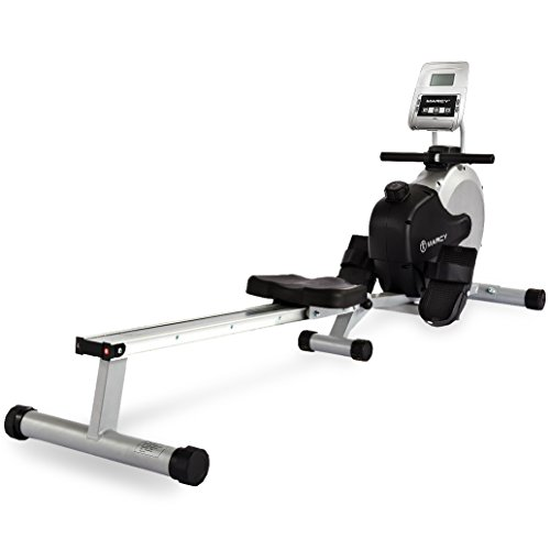 Marcy RM413 Henley Magnetic Foldable Rowing Machine - Silver/Black