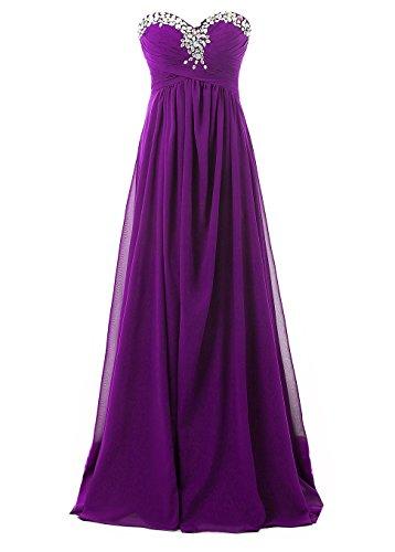 Kmformals Damen Lang Prom Abend Brautjungfer Kleider Formales AbendKleid Größe 58 Lila Größe 28-kleid-formale Kleid