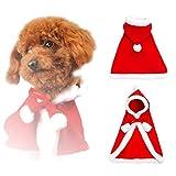 Petilleur Costumi per Cani Gatti Natale Anno Nuovo Vestiti Natale per Cani Animali Piccoli e Gatti (S)