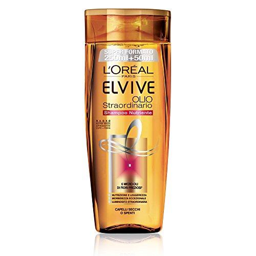 L'Oréal Paris Elvive Olio Straordinario Shampoo Nutriente per Capelli Secchi o Spenti, 300 ml