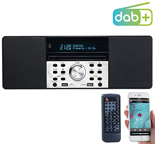 Digitalradio mit DAB+, FM, Bluetooth, CD, Audio-Player, USB-Port, 60 W (DAB Radio CD) ()