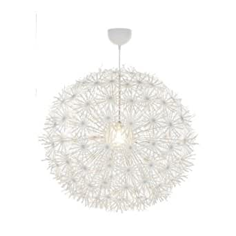 Ikea Maskros Pendant Light Paper Lamp Diameter 80 Cm Dandelion Effect White Amazon Co Uk Lighting