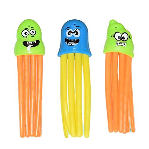 Daxoon Tintenfische Wasserspiel 3Pcs Octopus Badespielzeug Pool Tauchen Spielzeug für Kinder