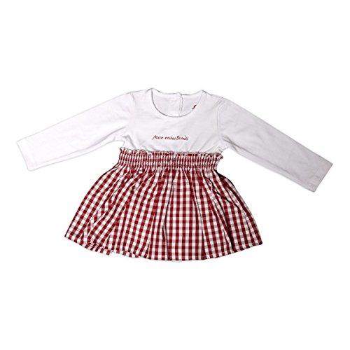 Tu Felix Austria Mädchen Baby Dirndl Langarm weiß rot (Outfit Adult Baby)