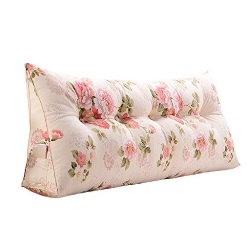 Virtper Rückenlehnen Kissen Dreieck Lendenwirbel Kissen/Sofa Kissen/Luxus Back Taille Support Kissen (Farbe : Pink, größe : 180 * 50 * 20cm) -