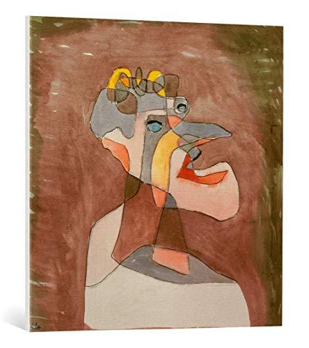 kunst für alle Leinwandbild: Paul Klee Der Mann mit dem Mundwerk - hochwertiger Druck, Leinwand auf Keilrahmen, Bild fertig zum Aufhängen, 75x75 cm
