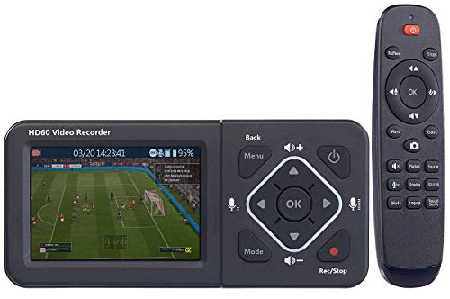 auvisio Videorecorder: HDMI-Video-Rekorder mit Farb-Display, Full HD, USB, SD, 60 Bilder/Sek. (HDMI Recorder) - Kassette Hi8 Video Player