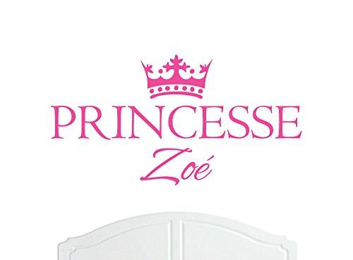 Princesse Zoé Grande Sticker mural avec décoration murale de la Couronne, Stickers Muraux, Papier Peint, Choix de Stickers en Vinyle