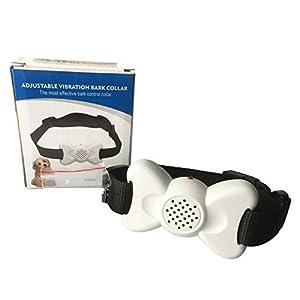 Lembeauty réglable Chien appareil d'arrêt écorce Collier de dressage de chien avec son et vibrations (piles non incluses)