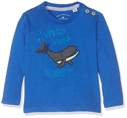 TOM TAILOR Kids Baby-Jungen T-Shirt Placed Print Langarmshirt, Blau (Nautical Blue 3009), Herstellergröße: 86 -