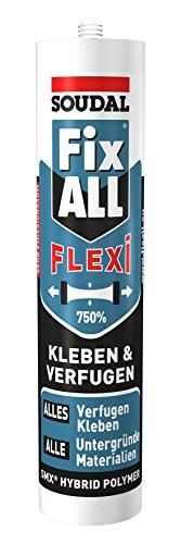 Preisvergleich Produktbild Soudal Fix ALL Flexi,  für alle Anwendungen im Bereich Kleben und Verfugen,  Kartusche: 290ml,  Farbe: Beige