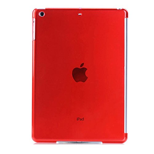 Robustrion Crystal Finish Hard Back Protective Case Cover for New iPad 9.7 inch 2018/2017 6th/5th Generation - Red