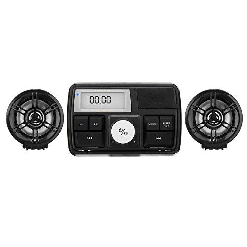 Alamor Wasserdichtes Motorrad Audio Sound System Stereo Lautsprecher MP3 Radio USB mit Bluetooth Funktion