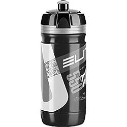 Elite Trinkflasche Corsa Bidón, Unisex Adulto, Negro/Gris, 550 ml