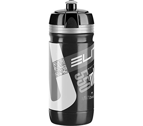Elite - Borraccia Corsa Nero Silver Bio 550 Ml