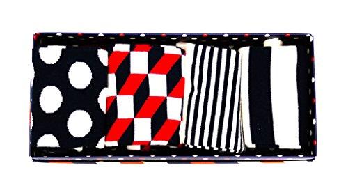 Happy Socks Stripe Gift Box, Calze Uomo, Blu (Navy 6000), Unica (Taglia Produttore: 41-46)