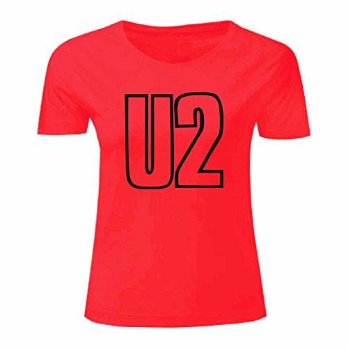 Art T-shirt, Maglietta U2, Donna Rosso