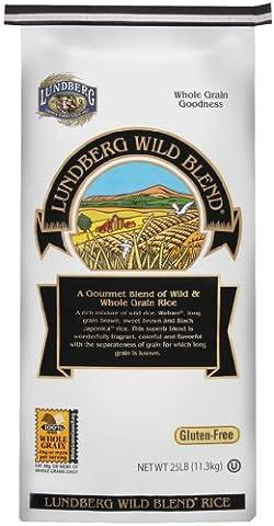 Lundberg Farms Eco-Fr Gourmet Wild Blend Rice 25 LB