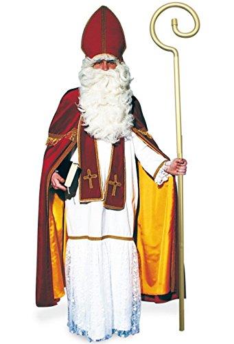 Bischof Kostüm SAMT 4tlg mit Kleid, Umhang, Schärpe und Hut / Mitra Einheitsgröße Erwachsene