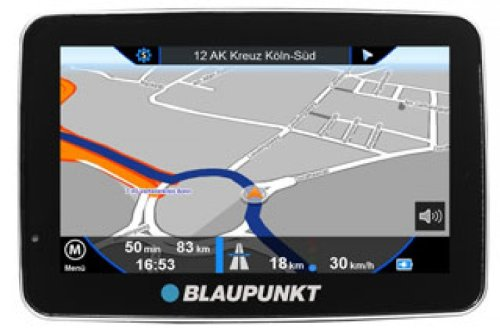 Blaupunkt Travelpilot 50 EU Navigationssystem ( 12,7cm ( 5.0 Zoll ) Display, Gesamteuropa 43 Länder, TMC, Lifetime Map Update, Camping Caravan Navigation, 3 Jahre Garantie, GeoDaylight, RealityView