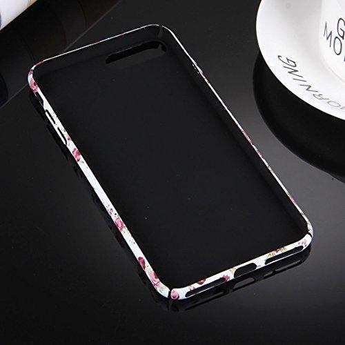 Hülle für iPhone 7 plus , Schutzhülle Für iPhone 7 Plus Wasserabziehbilder Noctilucent Blumenmuster PC Schutzhülle ,hülle für iPhone 7 plus , case for iphone 7 plus ( Color : White ) White