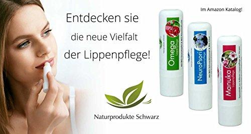 Ansicht vergrößern: Naturprodukte Schwarz - Manuka Lippenpflege - Lippenstift bei Herpes, 4,8g