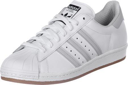 adidas Originals Superstar 80s Reflective N Schuhe Sneaker Turnschuhe Weiß B35384 ftwr white/lgh solid grey/tan