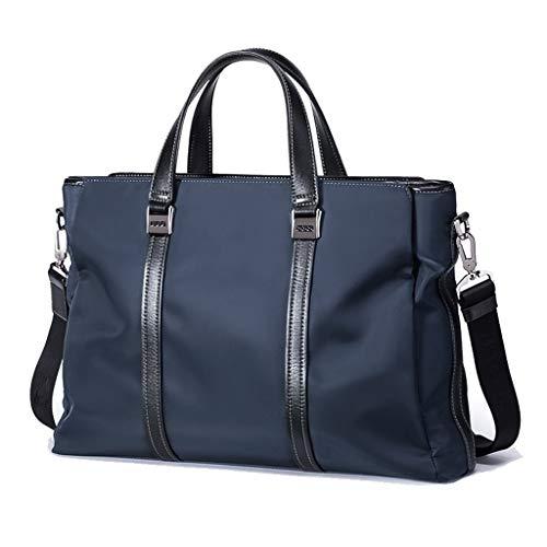 ANBAG Briefcase, Borsa del Portatile Zaino Borsetta A Spalla in Tela di Nylon Borsa A Mano Casual da Lavoro (Color : Blue)