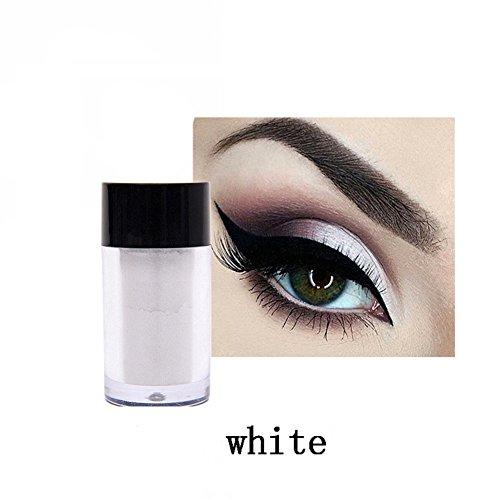 (ROMANTIC BEAR Lidschatten Glitzer Pulver Pigment High Gloss Pearl Pulver für Eye Makeup (weiß))