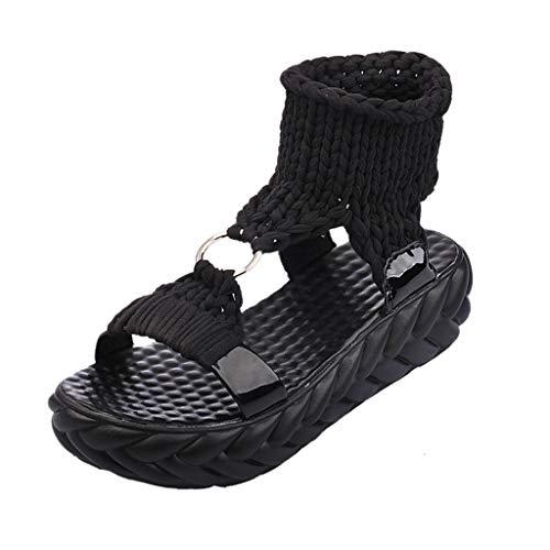 ODRD Sandalen Shoes Lässige Frauen Damen Sommer Mode plattform Sandalen Komfort große größe Casual Schuhe Schuhe Strandschuhe Freizeitschuhe Turnschuhe Hausschuhe