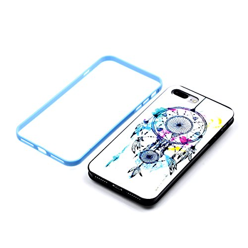 Apple iPhone 8 Plus 5.5 Hülle, Voguecase Schutzhülle / Case / Cover / Hülle / 2 in 1 TPU Gel Skin (Elefanten 06) + Gratis Universal Eingabestift Strohhut