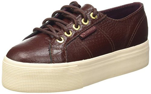 Superga 2790-Fglwembcocco, Sneaker, Donna A77 Bordeaux