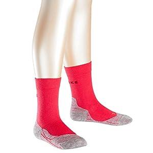 FALKE Kinder RU4 Laufsocken – Baumwollmischung, 1 Paar, Versch. Farben, Größe 23-38 – Mit mittelstarker Polsterung, feuchtigkeitsregulierend, schnellste Rücktrocknung, dämpfende Wirkung