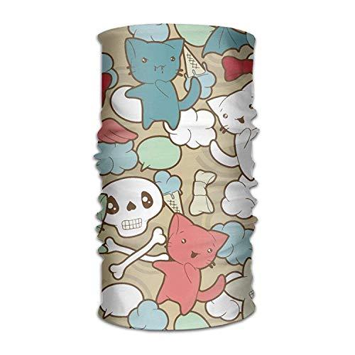 Miedhki Nette Karikatur-Katzen Headwear Bandanas nahtloses Kopftuch-im Freiensport-Kopfschmuck-Laufen reiten das Skifahren, das Stirnbänder Multicolor14 wandert