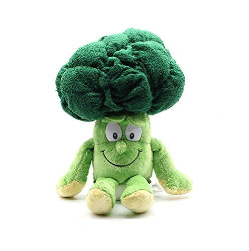 Wide.ling Nette Obst Gemüse Tier Plüschtier Baby Jungen Mädchen Stofftiere Schlaf Komfort Spielzeug Geburtstagsgeschenk Entzückende Plushie Spielzeug und Geschenke (Brokkoli) -