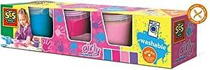 SES Creative 4 Pots of Finger Paints Modern Colours, Multicolor (00304)