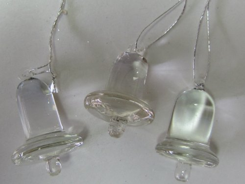 Klares Glas Glocke (Glasglöckchen Glöckchen Glocke aus Glas, klar, 35 x 27 mm, zum Aufhängen 12 Stück)