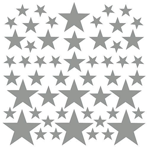 PREMYO 54 Estrellas Pegatinas Pared Infantil - Vinilos Decorativos Habitación Bebé Niños - Fácil...