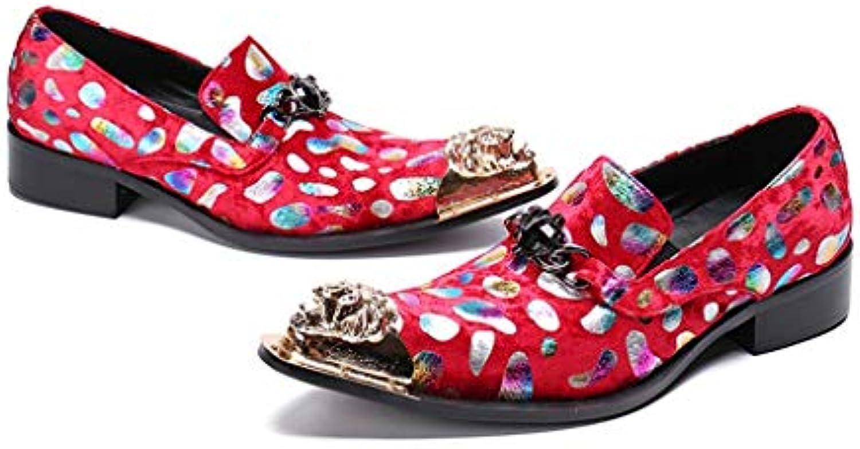 Mr.Zhang's Art Home Men's scarpe Scarpe Scarpe Scarpe da Uomo a Punta Scarpe in Pelle Rossa | Nuove Varietà Vengono Introdotti Uno Dopo L'altro  8eec03