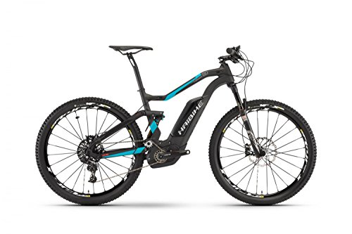 E-Bike Haibike XDURO FullSeven Carbon 8.0 27,5' 11-G X01 Bosch Performance CX, Rahmenhöhen:45, Farben:carbon/cyan/rot matt