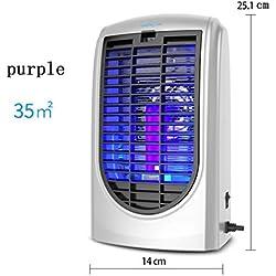 GZD Insecto Killer Electronic Anti-mosquito Trapping (Lámpara UV LED, sin veneno libre de radiación, control de silencios Insectos como los mosquitos, uso en interiores, alrededor del hogar) Dos tipos , purple