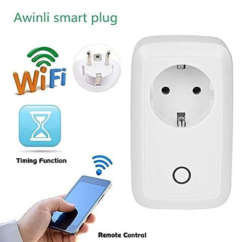 Wireless Smart Steckdose Timer Socket Home Intelligent Outlet Switch Wireless Timer Power Socket Fernbedienung Programmierbare elektrische Schalter mit Timing-Funktion und über