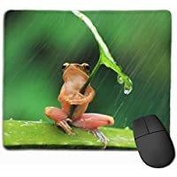 Mouse Pad Cute Frog Leaf Umbrella Non-Slip Rubber Base Upset Waterproof Mouse Mat for Laptop, Computer, PC, Keyboard