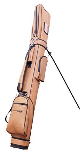 Sac trépied deluxe Marron clair au look cuir, légère, maniable incl. Golf aimant de réfrigérateur