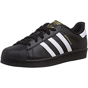 adidas Originals Superstar Foundation J Black/White Leather Youth Trainers