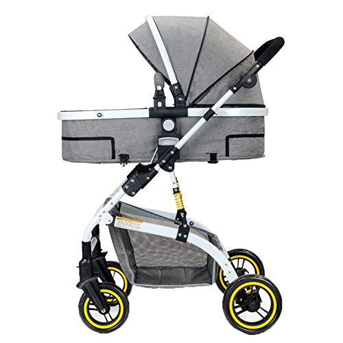 Kaysa-TS Pushchair 2018, Baby Stroller Travel System with Cotton Pads (schwarz)