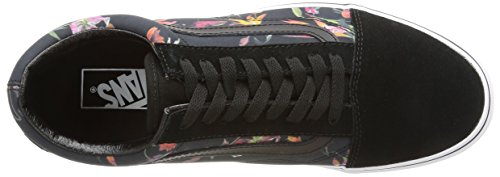 Vans U Old Skool Scarpe Da Ginnastica Basse, Unisex Adulto Nero (Black Bloom/Black/True White)