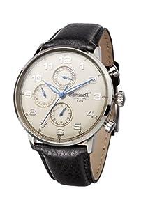 Ingersoll Unisex reloj infantil de cuarzo con esfera analógica blanca y negro correa de piel INQ037CMBL de Ingersoll