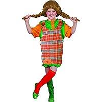 halloweenia–Niña Pipi Calzaslargas Disfraz con divertidos Botones, 104–164, 4–14años, multicolor