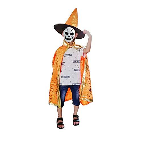 Shuangklei Halloween Kinder Zauberer Mantel Cape Robe Hexe Hut Maskerade Cosplay Festival Schule Partei Liefert